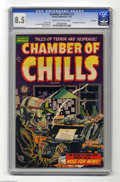 Golden Age (1938-1955):Horror, Chamber of Chills #21 File Copy (Harvey, 1954) CGC VF+ 8.5 Cream tooff-white pages. Decapitation panels. Lee Elias cover. B...