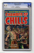 Golden Age (1938-1955):Horror, Chamber of Chills #22 File Copy (Harvey, 1954) CGC VF+ 8.5 Cream tooff-white pages. Lee Elias cover. Manny Stallman, Joe Ce...
