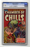 Golden Age (1938-1955):Horror, Chamber of Chills #23 File Copy (Harvey, 1954) CGC VF- 7.5 Cream tooff-white pages. Lee Elias cover. Bob Powell, Jack Sparl...