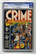Golden Age (1938-1955):Crime, Crime Does Not Pay #25 (Lev Gleason, 1943) CGC VF 8.0 Off-white to white pages. This title was the very first crime comic, a...