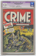 Golden Age (1938-1955):Crime, Crime Does Not Pay #29 (Lev Gleason, 1943) CGC Apparent VF/NM 9.0 Slight (P) White pages. Charles Biro cover. Artists includ...