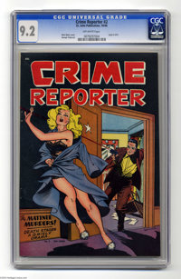 Crime Reporter #2 (St. John, 1948) CGC NM- 9.2 Off-white pages. The name Matt Baker stands for gorgeous female character...