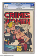 Golden Age (1938-1955):Crime, Crimes by Women #6 Mile High pedigree (Fox Features Syndicate, 1949) CGC VF 8.0 Off-white pages. Catfight! Catfight! Two...