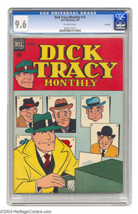 Dick Tracy Monthly #15 File Copy (Dell, 1949) CGC NM+ 9.6 Off-white pages. This may be the only copy of #15 that CGC has...