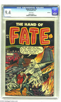 Golden Age (1938-1955):Horror, The Hand of Fate #12 Bethlehem pedigree (Ace, 1952) CGC NM 9.4White pages. Let's give this copy a big Hand -- surviving...
