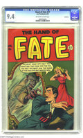Golden Age (1938-1955):Horror, The Hand of Fate #17 Bethlehem pedigree (Ace, 1953) CGC NM 9.4Off-white to white pages. The cover artist of this pre-Code h...