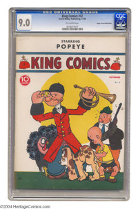 King Comics #32 Mile High pedigree (David McKay Publications, 1938) CGC VF/NM 9.0 Off-white pages. Popeye dons uncharact...