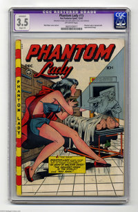 Phantom Lady #15 (Fox Features Syndicate, 1947) CGC Apparent VG- 3.5 Slight (P) Off-white pages. Matt Baker cover and ar...