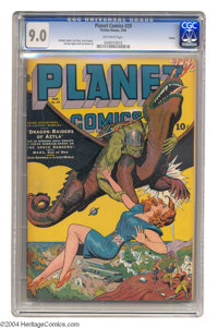 Planet Comics #29 Toledo pedigree (Fiction House, 1944) CGC VF/NM 9.0 Off-white pages. Fiction House artist Joe Doolin c...