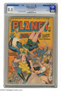 Golden Age (1938-1955):Science Fiction, Planet Comics #32 Rockford pedigree (Fiction House, 1944) CGC VF+8.5 Cream to off-white pages. The tried-and-true Planet ...