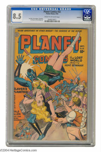 Planet Comics #32 Rockford pedigree (Fiction House, 1944) CGC VF+ 8.5 Cream to off-white pages. The tried-and-true Plane...
