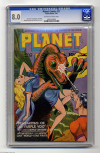 Planet Comics #37 (Fiction House, 1945) CGC VF 8.0 Off-white pages. The Space Rangers get cover billing here -- as usual...