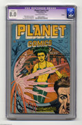 Golden Age (1938-1955):Science Fiction, Planet Comics #49 (Fiction House, 1947) CGC Apparent VF 8.0 Creamto off-white pages. This title laid the groundwork for sci...
