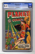 Golden Age (1938-1955):Science Fiction, Planet Comics #59 (Fiction House, 1949) CGC VF+ 8.5 Cream tooff-white pages. With its Joe Doolin cover and interior art fro...