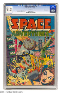 Space Adventures #1 White Mountain pedigree (Charlton, 1952) CGC NM- 9.2 White pages. The premiere issue of this title r...