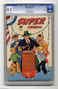 Golden Age (1938-1955):Crime, Super Comics #50 File Copy (Dell, 1942) CGC VF+ 8.5 Cream to off-white pages. Dick Tracy, Little Orphan Annie, and many othe...