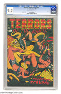 Golden Age (1938-1955):Horror, Terrors of the Jungle #20 Northford pedigree (Star, 1952) CGC NM-9.2 Cream to off-white pages. Ace cover artist L. B. Cole ...