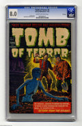Golden Age (1938-1955):Horror, Tomb of Terror #6 File Copy (Harvey, 1952) CGC VF 8.0 Cream tooff-white pages. Lee Elias cover. Rudy Palais and Bob Powell ...