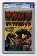 "Golden Age (1938-1955):Horror, Tomb of Terror #8 File Copy (Harvey, 1953) CGC NM 9.4 Cream tooff-white pages. As Michael Caine so memorably said in ""The S..."