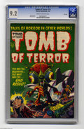 Golden Age (1938-1955):Horror, Tomb of Terror #14 File Copy (Harvey, 1954) CGC NM- 9.2 Cream tooff-white pages. This special science fiction issue has a L...