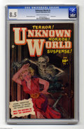 Golden Age (1938-1955):Horror, Unknown World #1 (Fawcett, 1952) CGC VF+ 8.5 Cream to off-whitepages. Painted cover by Norman Saunders. The only issue of t...