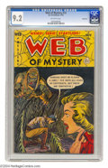 Golden Age (1938-1955):Horror, Web of Mystery #15 Bethlehem pedigree (Ace, 1952) CGC NM- 9.2Off-white pages. The Bethlehem collection is known for its gre...