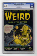 Golden Age (1938-1955):Horror, Weird Tales of the Future #5 (Aragon, 1953) CGC FN 6.0 Off-whitepages. This is the first time we've offered a copy of #5, g...