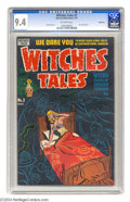 Golden Age (1938-1955):Horror, Witches Tales #2 Bethlehem pedigree (Harvey, 1951) CGC NM 9.4Off-white pages. There are ghosts aplenty in this Harvey comic...