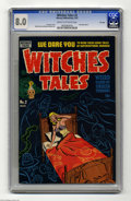Golden Age (1938-1955):Horror, Witches Tales #2 File Copy (Harvey, 1951) CGC VF 8.0 Cream tooff-white pages. Injury-to-eye panel. Al Avison cover. Rudy Pa...