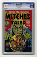 Golden Age (1938-1955):Horror, Witches Tales #3 File Copy (Harvey, 1951) CGC NM- 9.2 Cream tooff-white pages. Bondage cover. Bob Powell art. This is the h...