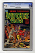 Golden Age (1938-1955):Horror, Witches Tales #4 File Copy (Harvey, 1951) CGC VF/NM 9.0 Cream tooff-white pages. This installment of the pre-Code Harvey ho...