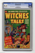 "Golden Age (1938-1955):Horror, Witches Tales #5 File Copy (Harvey, 1951) CGC VF+ 8.5 Cream tooff-white pages. Everyone wants to get ""into stocks,"" but not..."