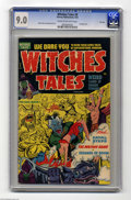 Golden Age (1938-1955):Horror, Witches Tales #9 File Copy (Harvey, 1952) CGC VF/NM 9.0 Cream tooff-white pages. Bondage cover. Rudy Palais and Bob Powell ...