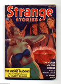 Pulps:Horror, Strange Stories Feb. 1939 Pulp (V1#1) (Better Publications, 1939)Condition: VG/FN. The first issue of a popular weird menac...