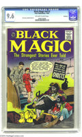 Silver Age (1956-1969):Horror, Black Magic V8#3 Bethlehem pedigree (Prize, 1961) CGC NM+ 9.6Off-white to white pages. On the cover, a man finds that sulle...