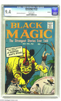 "Golden Age (1938-1955):Horror, Black Magic V8#5 Bethlehem pedigree (Prize, 1961) CGC NM 9.4Off-white pages. How can you pass up a cover blurb like ""A Thin..."