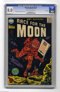 Golden Age (1938-1955):Science Fiction, Race For the Moon #3 File Copy (Harvey, 1958) CGC VF 8.0 Cream tooff-white pages. Jack Kirby cover. Kirby interior art, ink...