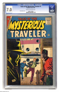 Tales of the Mysterious Traveler #1 (Charlton, 1956) CGC FN/VF 7.0 Cream to off-white pages. Dick Giordano cover. This i...