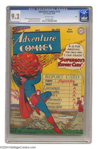 Adventure Comics #133 Ohio pedigree (DC, 1948) CGC NM- 9.2 Off-white pages. Superboy's a straight-A student on this Win...