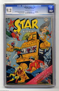 All Star Comics #43 (DC, 1948) CGC NM- 9.2 Off-white to white pages. Robot covers are always in demand, and here's one w...