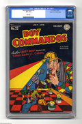 Golden Age (1938-1955):War, Boy Commandos #22 Mile High pedigree (DC, 1947) CGC VF+ 8.5 Whitepages. The Boy Commandos welcome a special guest, as real-...