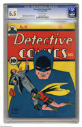 Golden Age (1938-1955):Superhero, Detective Comics #42 (DC, 1940) CGC FN+ 6.5 Off-white pages. Batman takes pride in his sidekick's accomplishments on this co...