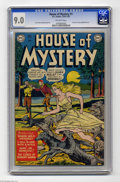 Golden Age (1938-1955):Horror, House of Mystery #1 (DC, 1952) CGC VF/NM 9.0 Off-white pages. Thismilestone issue was not only DC's first horror comic, it ...