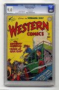 Golden Age (1938-1955):Western, Western Comics #1 (DC, 1948) CGC VF/NM 9.0 Off-white pages. DC's flagship Western title rode into town in 1948 and it didn't...