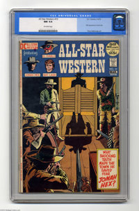 All-Star Western #10 (DC, 1972) CGC NM 9.4 Off-white pages. In the dying days of the Western, DC introduced what might h...