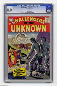 Challengers of the Unknown #6 (DC, 1959) CGC VF 8.0 Off-white pages. Jack Kirby cover. Kirby and Wally Wood art. Only on...