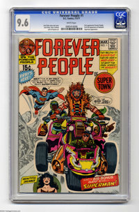 The Forever People #1 (DC, 1971) CGC NM+ 9.6 White pages. First appearance of the Forever People. First full appearance...