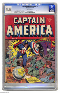 Captain America Comics #2 (Timely, 1941) CGC VG+ 4.5 Off-white pages. Did Hitler have plans to extend the Third Reich to...