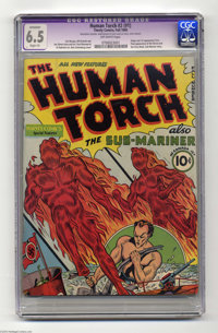 The Human Torch #2 (#1) (Timely, 1940) CGC Apparent FN+ 6.5 Slight (P) Off-white pages. Timely at its mightiest, with th...