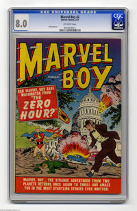 Marvel Boy #2 (Marvel, 1951) CGC VF 8.0 Off-white pages. This was the second and last issue of this title. The book has...